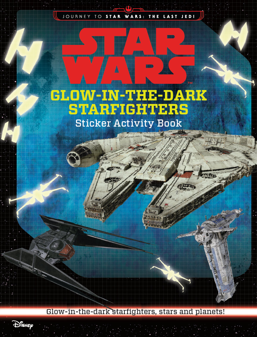 Journey to Star Wars The Last Jedi - Glow in the Dark Starfighters
