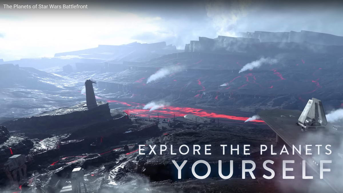 Star Wars Battlefront explore planets