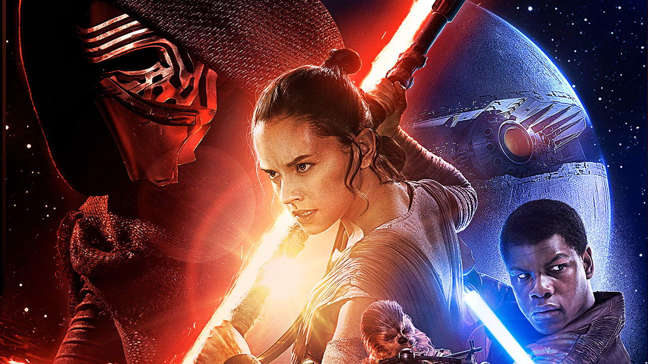 star wars force awakens official poster wide