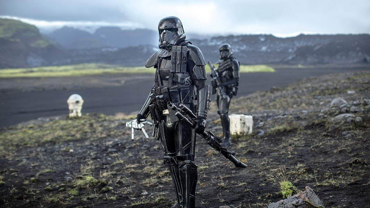 Rogue One death troopers with doll